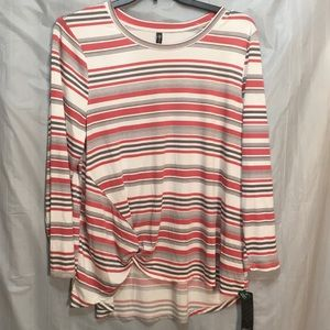 New Stretch blouse gathered front 1X